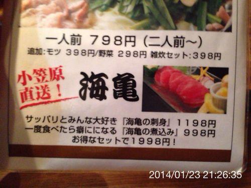 海亀を出す居酒屋…。おいおい、それ食っていいのかい?
