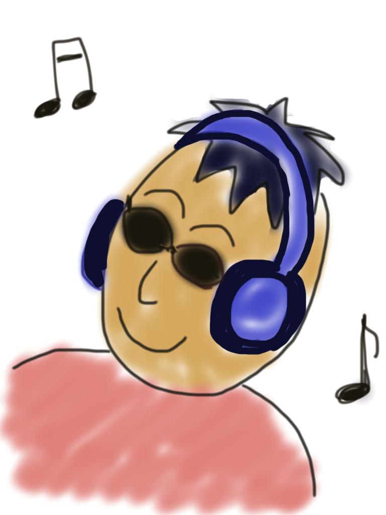 音楽を聴く時は、サングラスをかけるまさやくんの、ライフハック