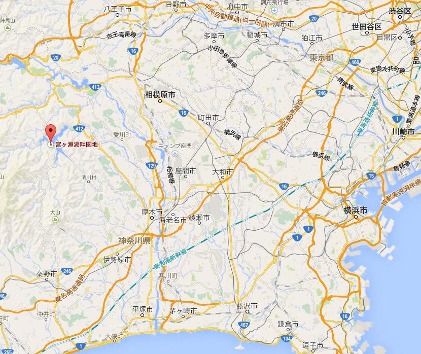 宮ヶ瀬湖畔園地 マップ