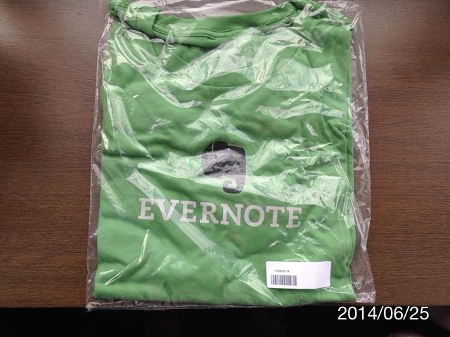 Evernoteが好きすぎて、専用マーケットからTシャツを買った