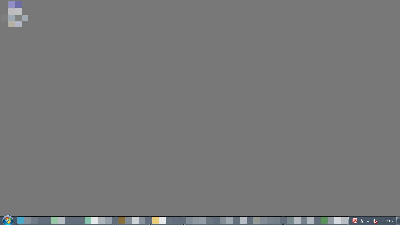 デスクトップの背景も邪魔になったので、単色にしたらスッとしました