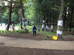 プレイパークっていう、子どものための素晴らしい遊び場があるよ!