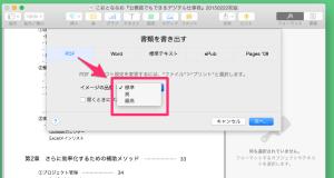 PDFの画質選択