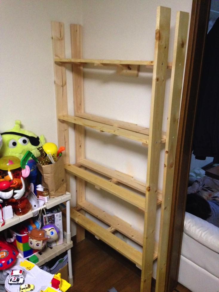 おもちゃの収納棚をDIYで作る⑦【組み立て編】シリーズ完結