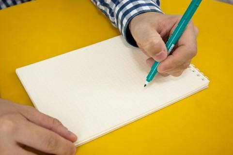「書き出し」した後のノートからは、長く文章でタスク化をすると、未来の自分へ引き継げる