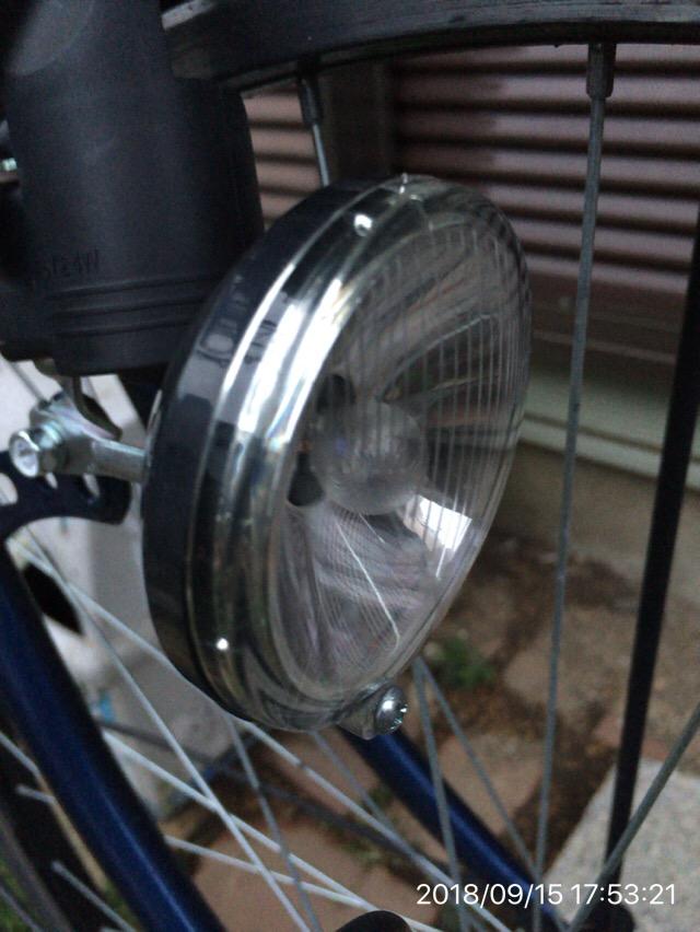 タイヤを回して光を出すタイプ(ダイナモ)の自転車ライトを交換した